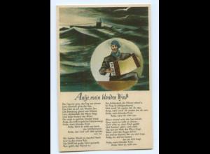 Y8361/ Lieder AK Antje, mein bliondes Kind - U-Boot Marine ca.1940