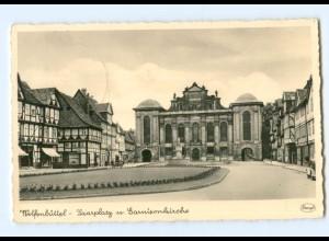 Y8287/ Wolfenbüttel Saarplatz und Garnisonkirche 1941 Foto AK
