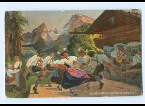Y8371/ Schuhplattltanz bei Berchtesgaden AK ca.1912