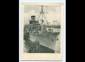 Y8914/ Hamburg Hafen Hotelschiff Daressalam ca.1950