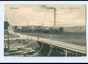 U1411/ Uetersen Hafen und Papierfabrik AK 1907