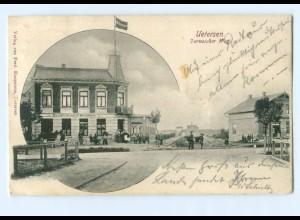 U1588-2082/ Uetersen Tornescher Weg AK Gasthof Auspann 1901
