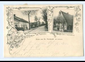 U1430-2082/ Gruß aus Gr. Nordende b. Uetersen AK 1907