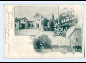 U6072-2082/ Gruß aus Esingen bei Tornesch Hellms Gasthof 1900