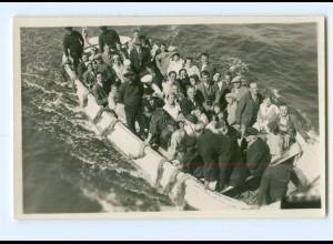 U1506/ Helgoland Ausbootung Foto AK ca.1930