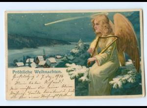 Y8436/ Weihnachten Engel Meissner & Buch Litho AK ca.1900