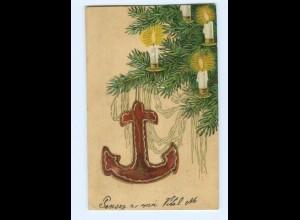 Y8696/ Weihnachten 1904 Litho Prägedruck AK