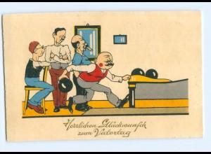 U1657/ Kegeln Glückwunsch zum Vatertag AK 1934