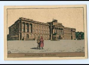 U1570/ Braunschweig Schloss Steinzeichnung Litho Ak ca.1920