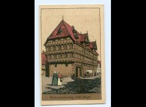 U1569/ Braunschweig Alte Wage Steinzeichnung Litho Ak 1924