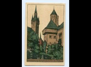 U1568/ Braunschweig Burg Dankwarderrode Steinzeichnung Litho Ak 1924
