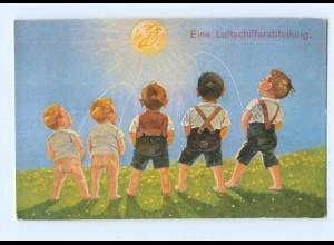 """Y8866/ Jungen pinkeln """"Eine Luftschifferabteilung"""" Sonne , Humor AK ca. 1915"""