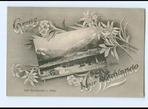 Y8713/ Bad Reichenhall Gruß aus dem bayr. Hochlande AK 1910