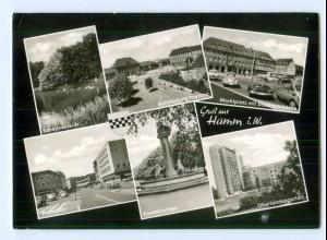Y8746/ Hamm i. W. Bahnhof Autos AK 1966