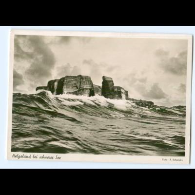 Y8865/ Helgoland Spende zum Wiederaufbau der Insel AK Foto Schensky
