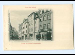 U1867/ Das alte Leipzig Große Fleischergasse, Weinhandlung Förster & Thieme AK