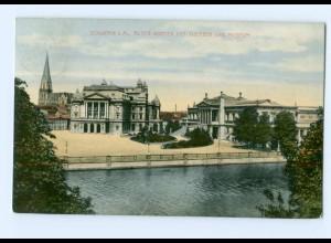 U1860/ Schwerin Theater und Museum AK 1913