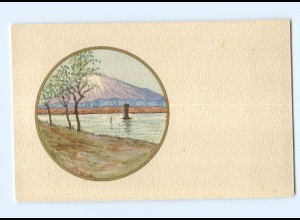 Y8855/ Handgemalte AK Landschaft ca. 1910