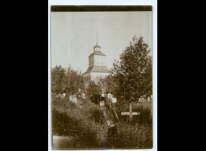 S983/ Jakobstad Kirche Friedhof Finnland altes Foto 1907 ca.17 x 12 cm