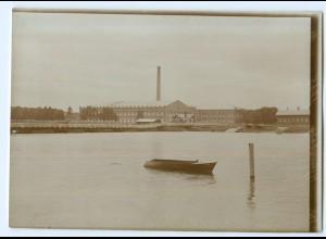 S985/ Björneburg Fabrik Finnland altes Foto 1907 ca.17 x 12 cm
