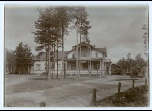 S1001/ Konvola Hotel Finnland altes Foto 1907 ca.17 x 12 cm