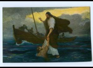 Y8965/ Jesus wandelt auf dem Meere - Die heilige Schrift - AK ca.1912
