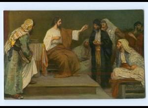 Y8968/ Jesus in der Synagoge zu Nazareth - Die heilige Schrift - AK ca.1912