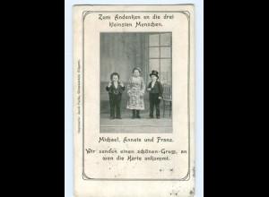 U1957/ Liliputaner Michael, Anneta und Franz AK Variete ca.1910