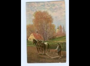 U1923/ Landwirtschaft Pferdepflug 1913 AK
