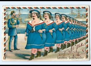 Y9047/ Frauen in Uniform - Leichtes Geschwader - Marine Loitho AK 1906