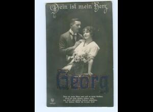 """U2025/ Namen Foto AK """"Georg"""" Glimmer ca.1912"""