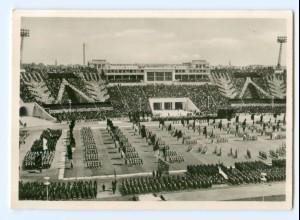 Y9011/ Leipzig Stadion der Hunderttausend Foto AK 1956