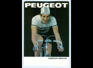 Y9012/ Gregor Braun Radrennfahrer Peugeot-Fahrrad AK