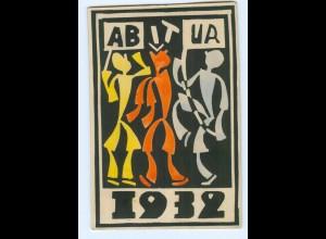 U2030/ Studentika Abitur 1932 Stempel: Freiburg AK
