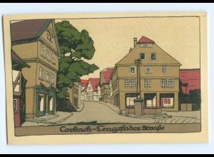 U2117-3540/ Korbach Lengefelder Str., Steinzeichung Litho AK ca.1912