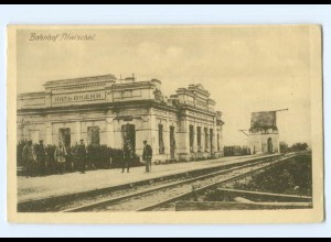 U2104/ Bahnhof Pilwischki Litauen AK 1918