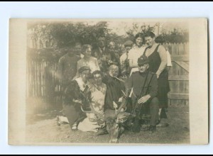 U2095/ Jäger mit erlegtem Hirsch Privat Foto AK ca.1920 Jagd