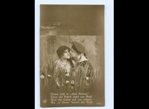 Y9231/ Marine-Soldat und Frau Foto AK ca.1914 Matrose