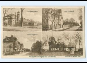 Y9262/ Truppenübungsplatz Döberitz Postmat Soldatenheim AK 1932