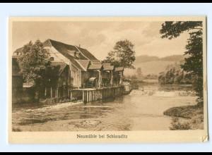 U2222-046./ Neumühle bei Schkauditz AK ca.1920
