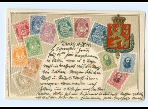 Y9227/ Norwegen Briefmarken Litho Prägedruck AK 1905