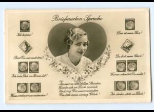 Y9228/ Briefmarkensprache Deutsches Reich Foto AK ca.1938