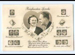 Y9229/ Briefmarkensprache Deutsches Reich Foto AK ca.1938