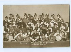 Y9219/ Musikverein Alpenrösli - München in Berchtesgaden 1925 Foto AK