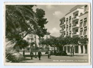 Y9218/ Sestri Levante Via Francesco Foto AK ca.1940