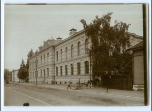 S1075/ Vaasa Wasa Volksschule Skola Foto ca. 17 x 12 cm 1907 Finnland