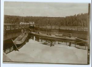 S1113/ Kajana Kaajani Flösser Foto ca. 17 x 12 cm 1907 Finnland