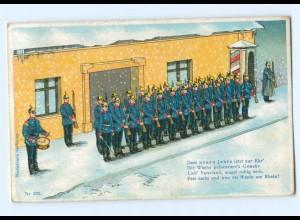 Y9373/ Die Wacht am Rhein Litho AK Militär Soldaten 1910