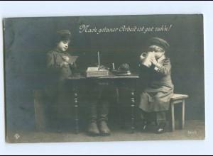 Y9372/ Kinder in Uniform 1. Weltkrieg Foto AK 1917
