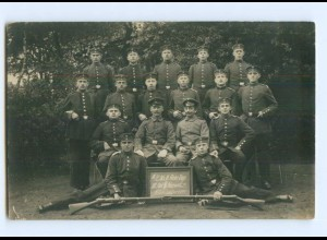 Y9368/ Soldaten II./E 85 II. Rekr.-Dep. Neumüsnter 1915. Weltkrieg Foto AK